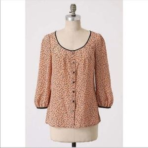 Anthropologie Odille Casino Nights Blouse